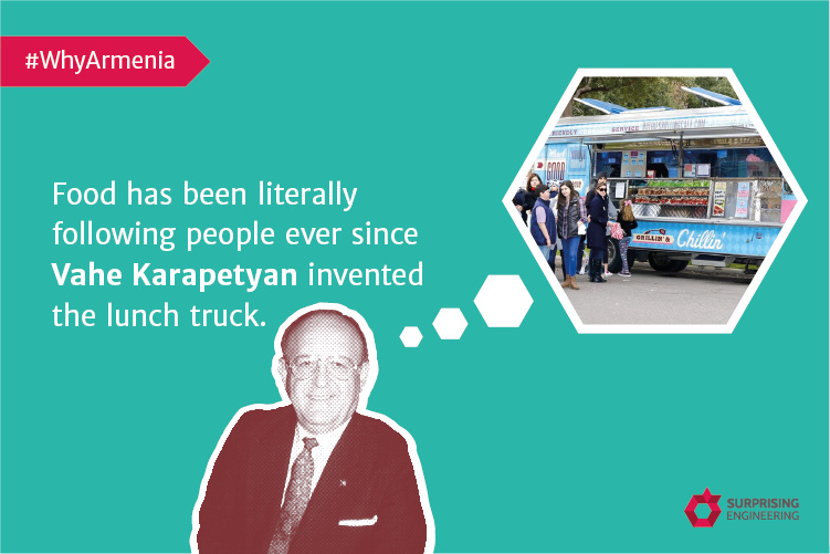Vahen Karapetyan invented the lunch truck.