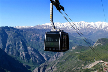 The Longest Ropeway of the World in Tatev, Armenia
