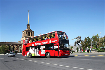 Hop on the Red Double-decker to Feel Yerevan's Warmth