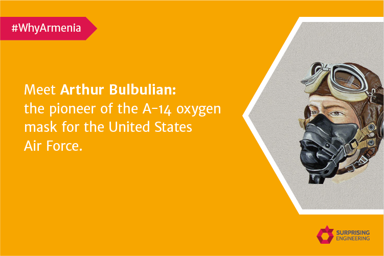 Meet Arthur Bulbulian: the pioneer of the A-14 oxygen mask for the United States Air Force.